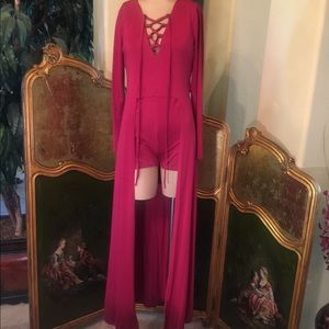 Other - Dark red romper with duster size small